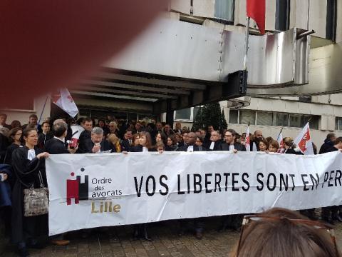 MOBILISONS-NOUS POUR LA JUSTICE Manifestation du 15 Février 2018 Maître WABANT PREND LA PAROLE